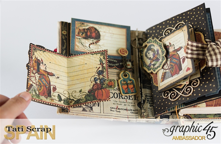 Tati, Hallowe'en in Wonderland., Magical Book, Product by Graphic 45, photo 14