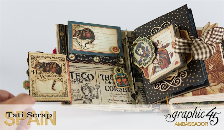 Tati, Hallowe'en in Wonderland., Magical Book, Product by Graphic 45, photo 15