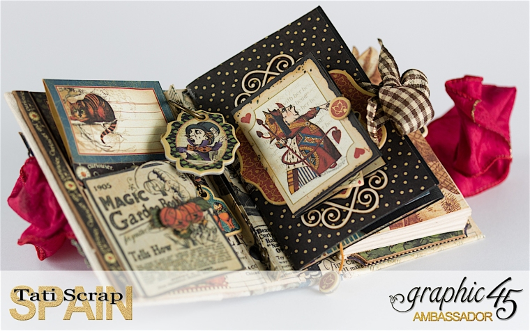 Tati, Hallowe'en in Wonderland., Magical Book, Product by Graphic 45, photo 16