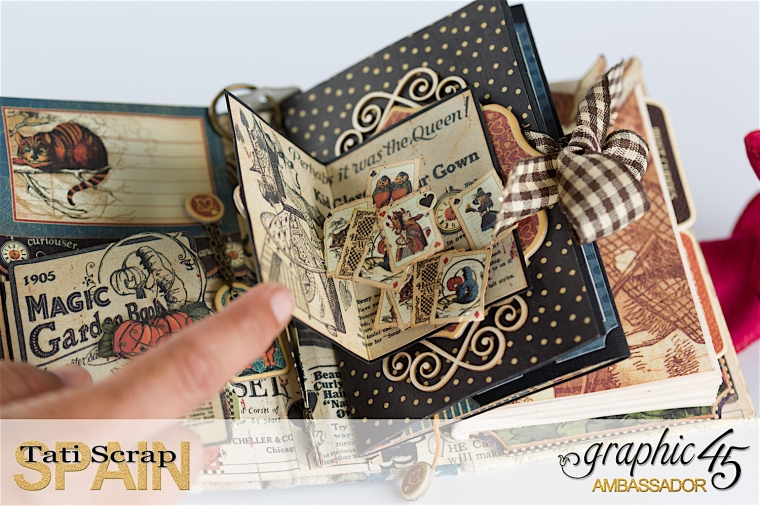 Tati, Hallowe'en in Wonderland., Magical Book, Product by Graphic 45, photo 17
