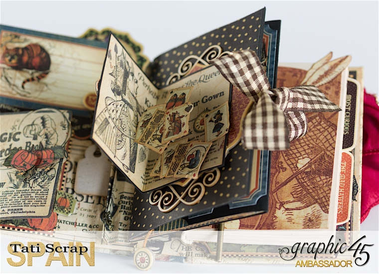 Tati, Hallowe'en in Wonderland., Magical Book, Product by Graphic 45, photo 18