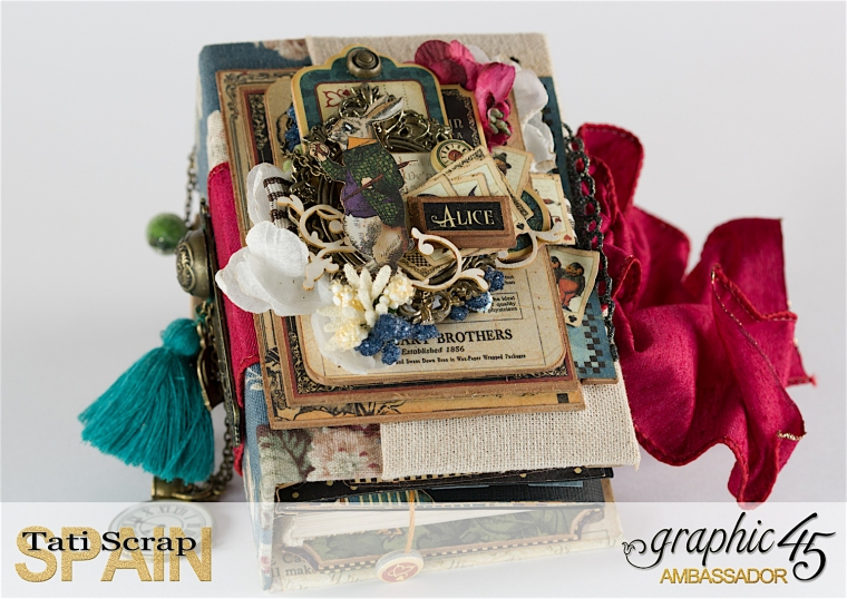 Tati, Hallowe'en in Wonderland., Magical Book, Product by Graphic 45, photo 3