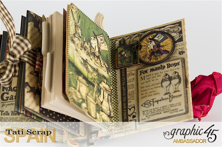 Tati, Hallowe'en in Wonderland., Magical Book, Product by Graphic 45, photo 33