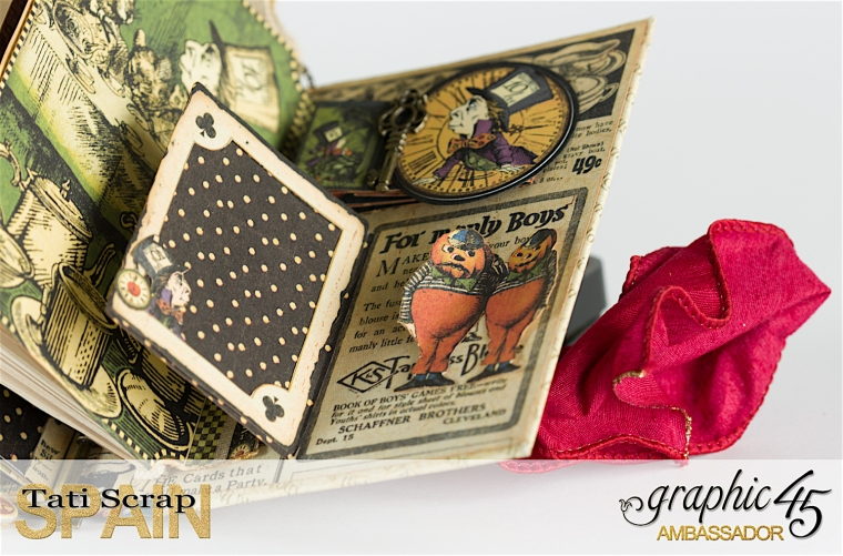 Tati, Hallowe'en in Wonderland., Magical Book, Product by Graphic 45, photo 35