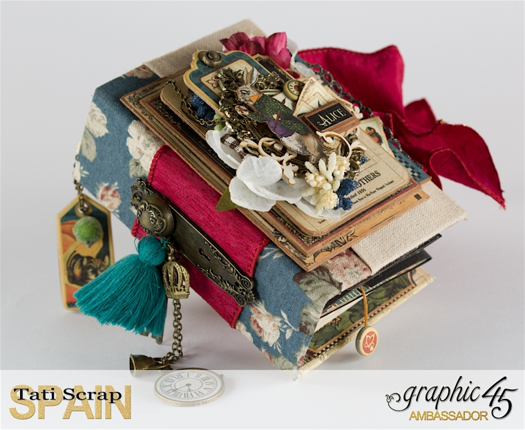 Tati, Hallowe'en in Wonderland., Magical Book, Product by Graphic 45, photo 4
