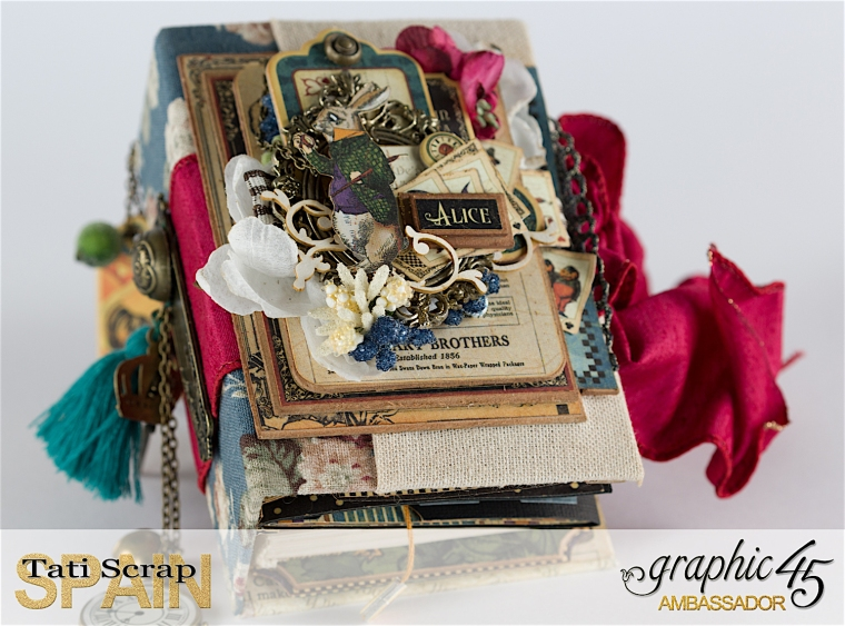Tati, Hallowe'en in Wonderland., Magical Book, Product by Graphic 45, photo 9