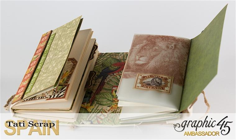Tati, Safari Adventure Book, Product by Graphic 45, Photo 13