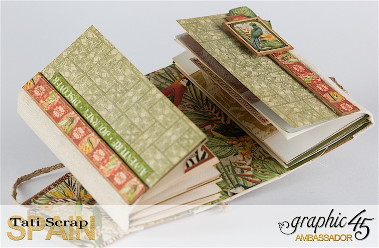 Tati, Safari Adventure Book, Product by Graphic 45, Photo 14