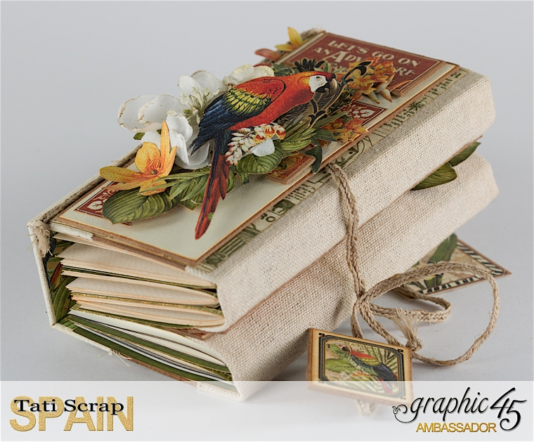 Tati, Safari Adventure Book, Product by Graphic 45, Photo 16