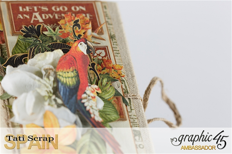 Tati, Safari Adventure Book, Product by Graphic 45, Photo 4