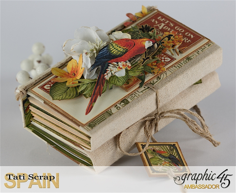 Tati, Safari Adventure Book, Product by Graphic 45, Photo 8