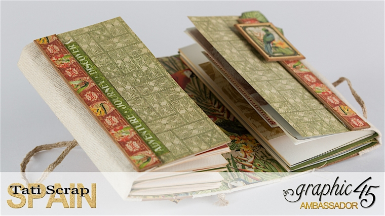 Tati, Safari Adventure Book, Product by Graphic 45, Photo 9