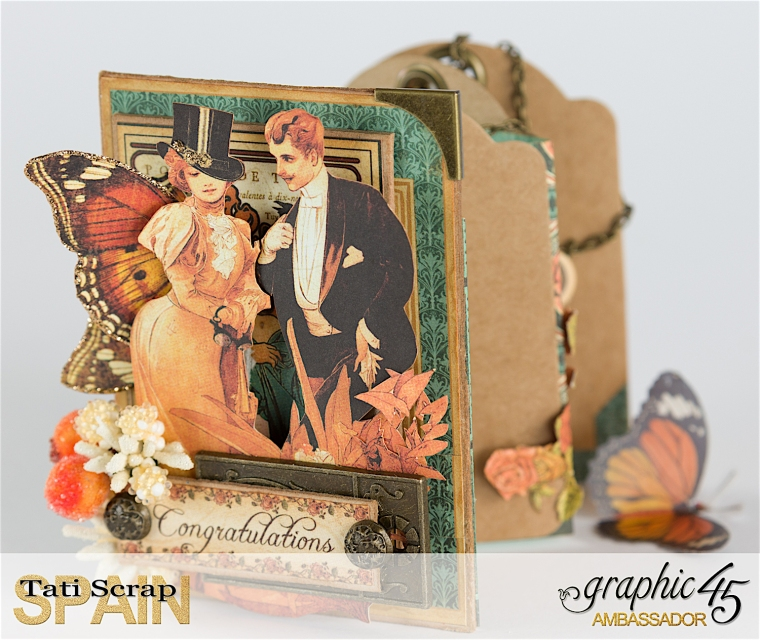 Tati, %22Happy Anniversary%22, Alpha Banner-ATC Kraft, Product by Graphic 45, Photo 5
