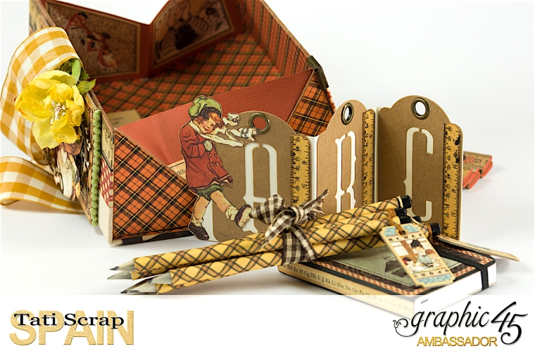 Tati, Pencil Case, ABC Deluxe Collection, Product by Graphic 45 , Photo 13