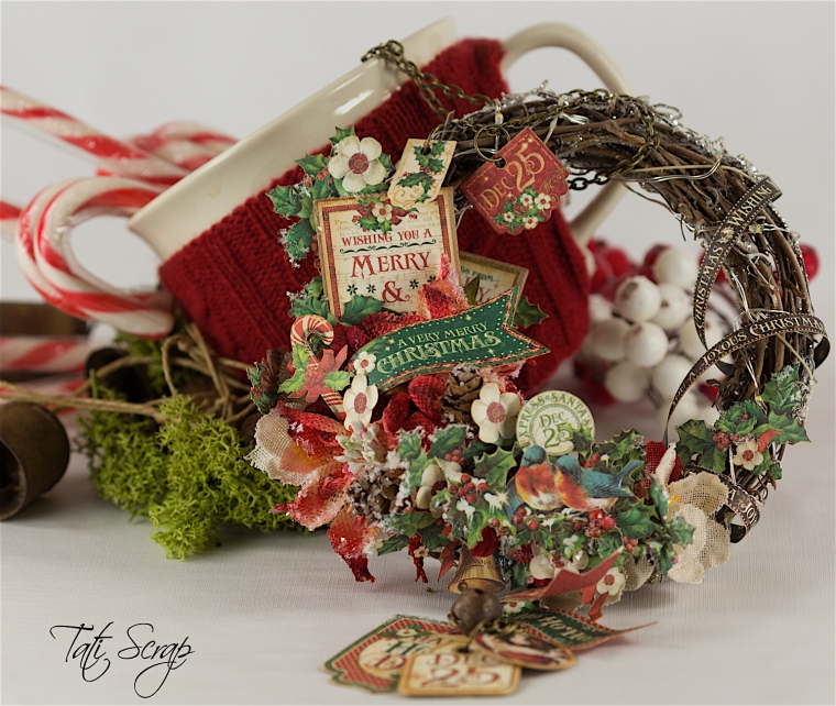 Wreath tati scrap - Tati decoration noel ...