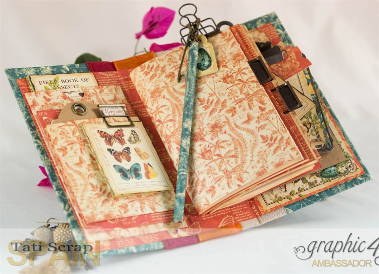 Tati, 2017 Autumn Book, Nature Sketchbook pattern & solid papers, Product by Graphic 45, Photo 12