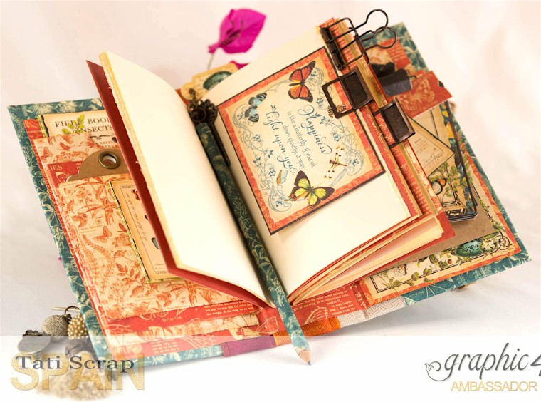Tati, 2017 Autumn Book,Nature Sketchbook pattern & solid papers, Product by Graphic 45, Photo 13
