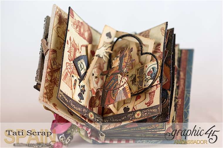 Tati, Hallowe'en in Wonderland - Deluxe Collector's Edition, Pop-Up Book, Product by Graphic 45, Photo 12