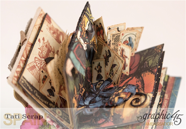 Tati, Hallowe'en in Wonderland - Deluxe Collector's Edition, Pop-Up Book, Product by Graphic 45, Photo 17