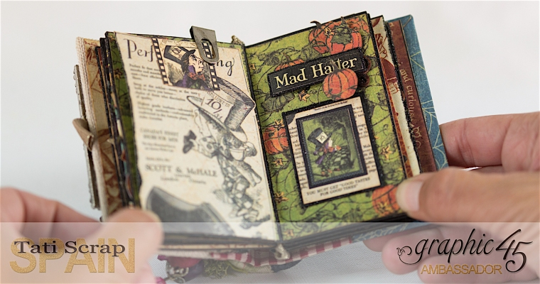 Tati, Hallowe'en in Wonderland - Deluxe Collector's Edition, Pop-Up Book, Product by Graphic 45, Photo 20