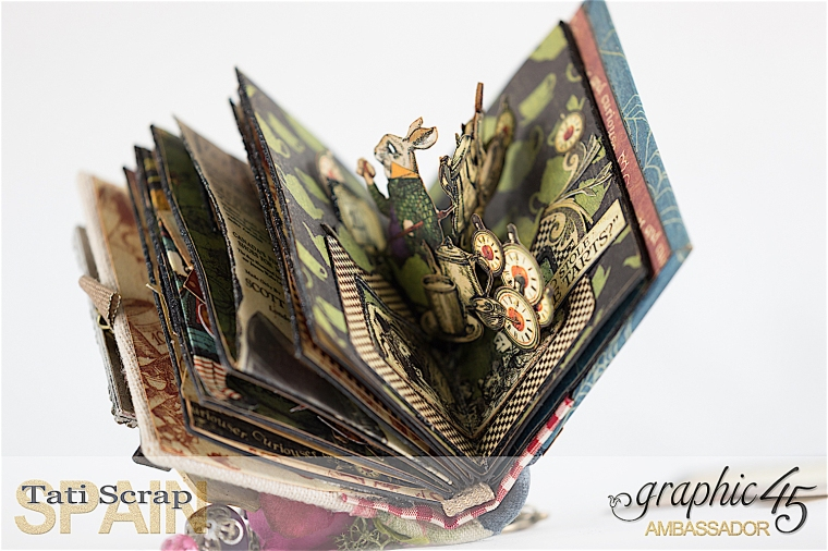 Tati, Hallowe'en in Wonderland - Deluxe Collector's Edition, Pop-Up Book, Product by Graphic 45, Photo 29
