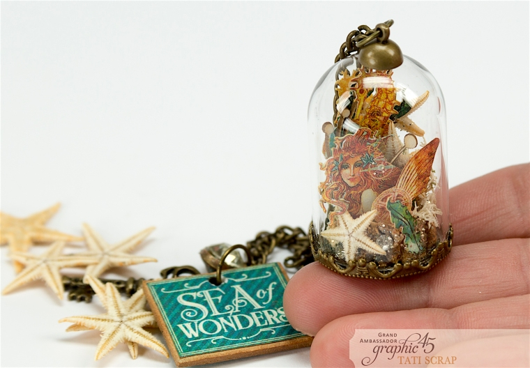 Tati,Magic of the Sea in a Glass Dome, Voyage Beneath the Sea, product by Graphic 45, Photo 5