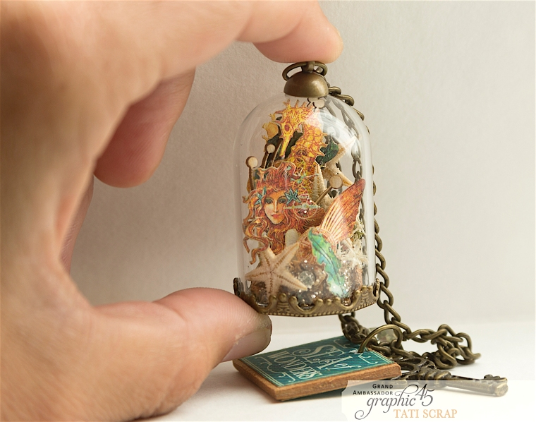 Tati,Magic of the Sea in a Glass Dome, Voyage Beneath the Sea, product by Graphic 45, Photo11