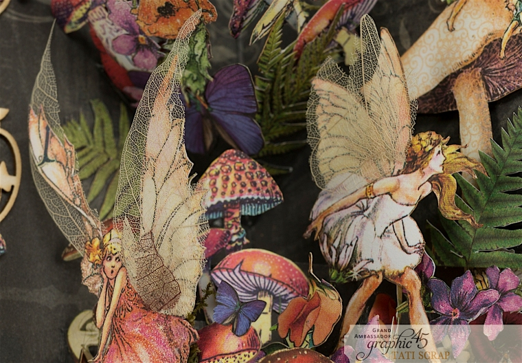 Tati, Fairie Dust Pop-Up Card, Product by Graphic 45, Photo 13