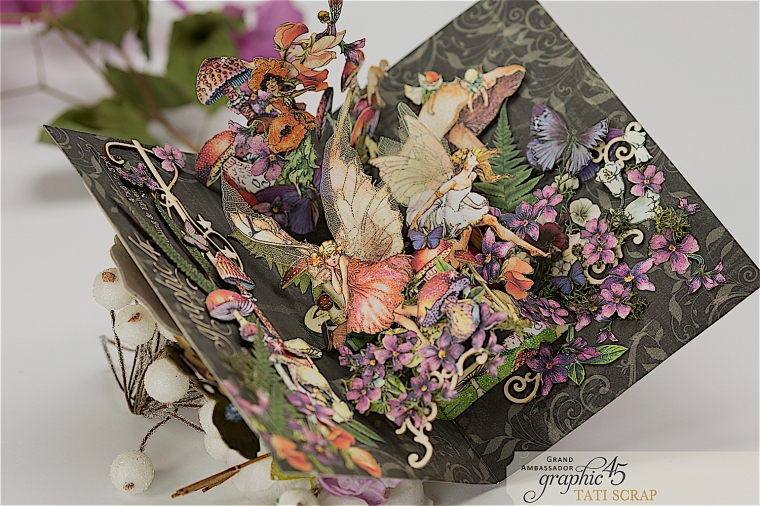 Tati, Fairie Dust Pop-Up Card, Product by Graphic 45, Photo 15