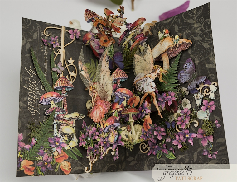 Tati, Fairie Dust Pop-Up Card, Product by Graphic 45, Photo 4