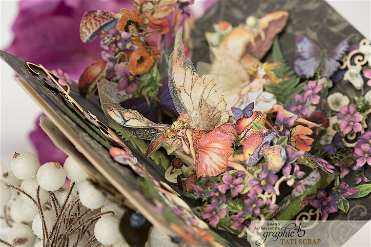 Tati, Fairie Dust Pop-Up Card, Product by Graphic 45, Photo 5