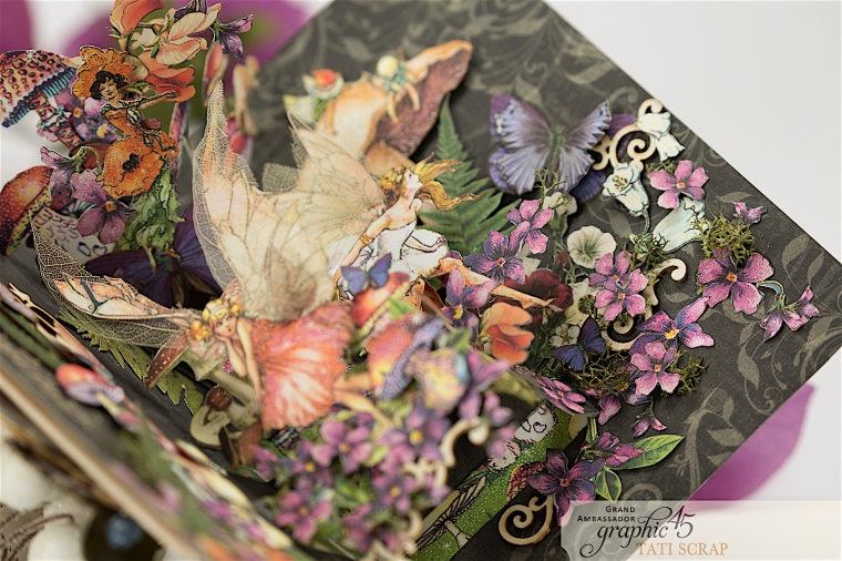 Tati, Fairie Dust Pop-Up Card, Product by Graphic 45, Photo 8
