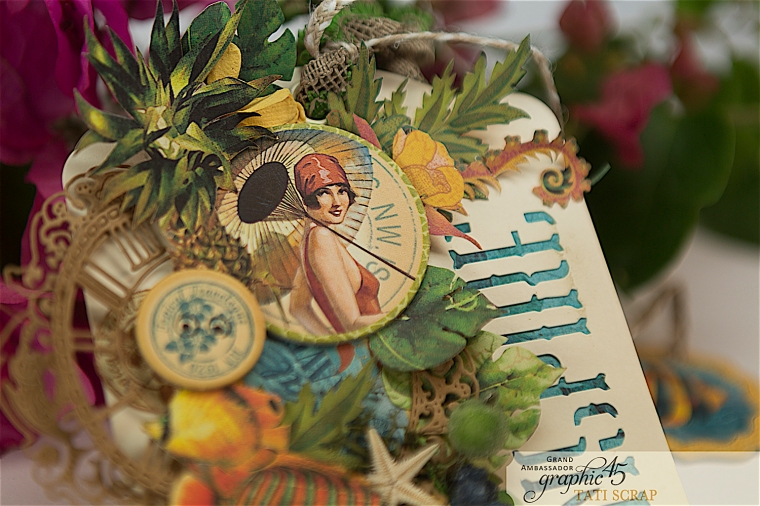 Tropical Tag, Tati, Tropical Travelogue, Product by Graphic 45, Photo 0