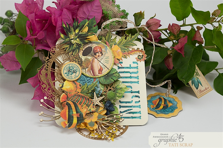 Tropical Tag, Tati, Tropical Travelogue, Product by Graphic 45, Photo 1