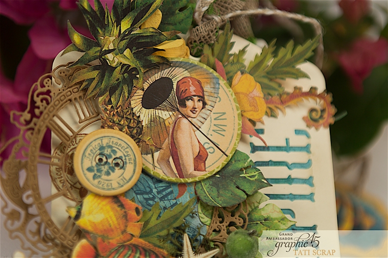 Tropical Tag, Tati, Tropical Travelogue, Product by Graphic 45, Photo 3