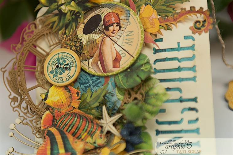 Tropical Tag, Tati, Tropical Travelogue, Product by Graphic 45, Photo 4