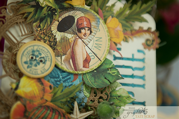 Tropical Tag, Tati, Tropical Travelogue, Product by Graphic 45, Photo 6