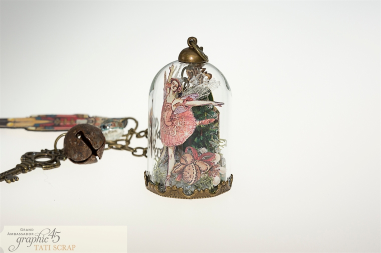 Tati, Nutcracker Sweet, Glass Dome, Product by Graphic 45, Photo 4