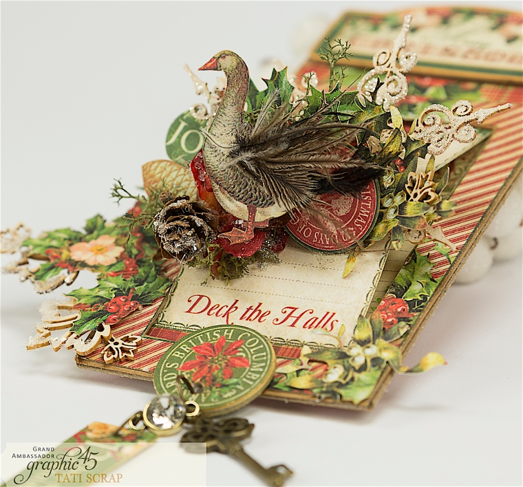 Tati, The Twelve Days of Christmas, Card, Product by Graphic 45, Photo 1
