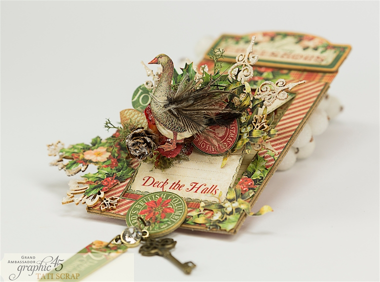 Tati, The Twelve Days of Christmas, Card, Product by Graphic 45, Photo 2
