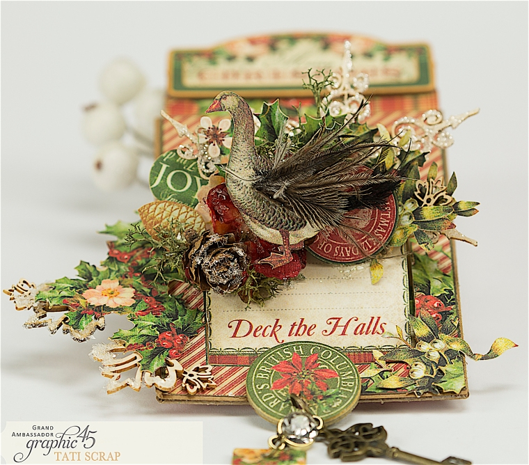 Tati, The Twelve Days of Christmas, Card, Product by Graphic 45, Photo 3