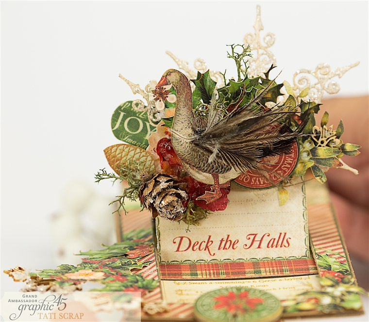 Tati, The Twelve Days of Christmas, Card, Product by Graphic 45, Photo 5