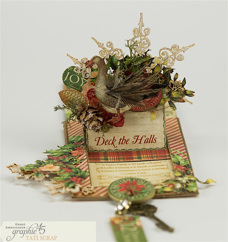 Tati, The Twelve Days of Christmas, Card, Product by Graphic 45, Photo 6