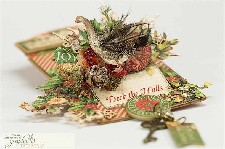 Tati, The Twelve Days of Christmas, Card, Product by Graphic 45, Photo 8