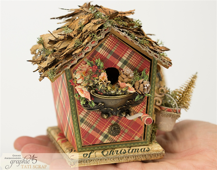 Tati, Music Bird House, Twelve Days of Christmas, Product by Graphic 45, Photo 2