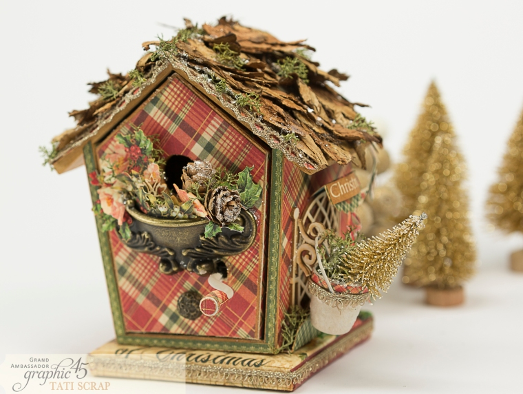 Tati, Music Bird House, Twelve Days of Christmas, Product by Graphic 45, Photo 3