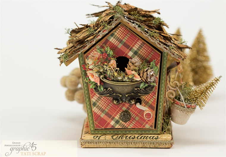 Tati, Music Bird House, Twelve Days of Christmas, Product by Graphic 45, Photo 4