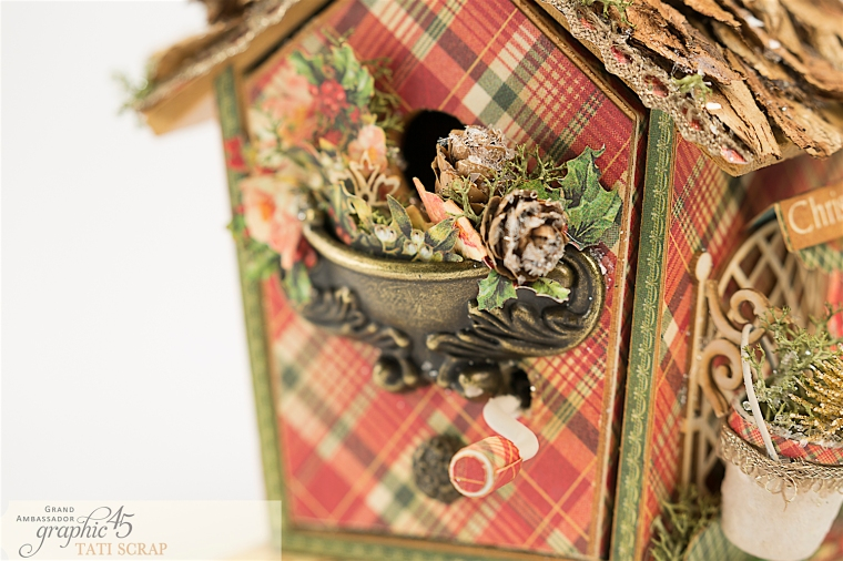 Tati, Music Bird House, Twelve Days of Christmas, Product by Graphic 45, Photo 5