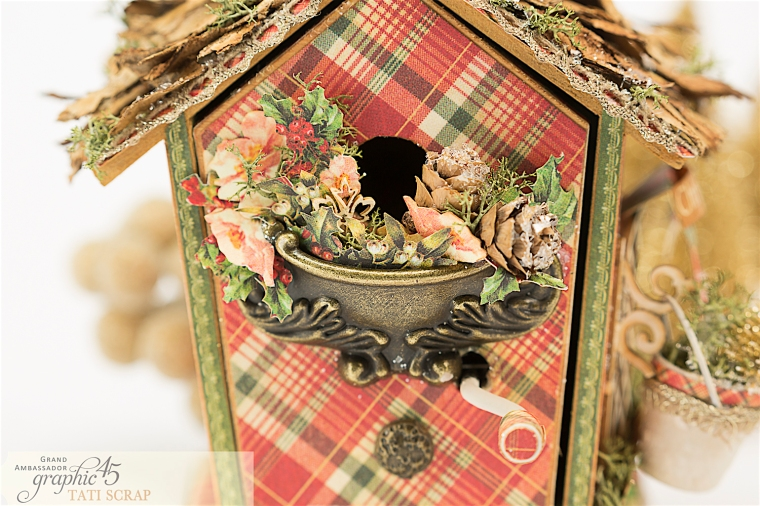 Tati, Music Bird House, Twelve Days of Christmas, Product by Graphic 45, Photo 7