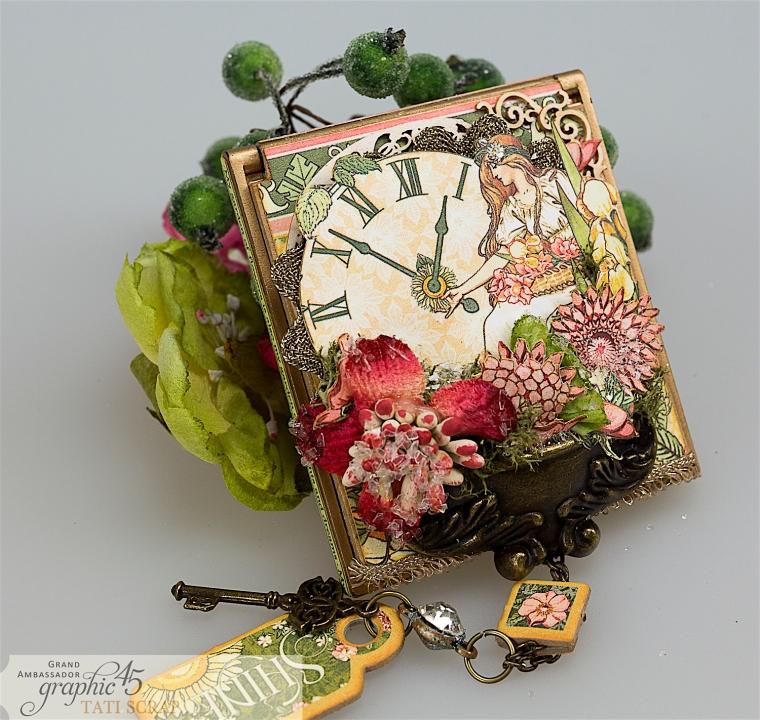 tati, vintage mirror, garden goddess product by graphic 45, photo 0